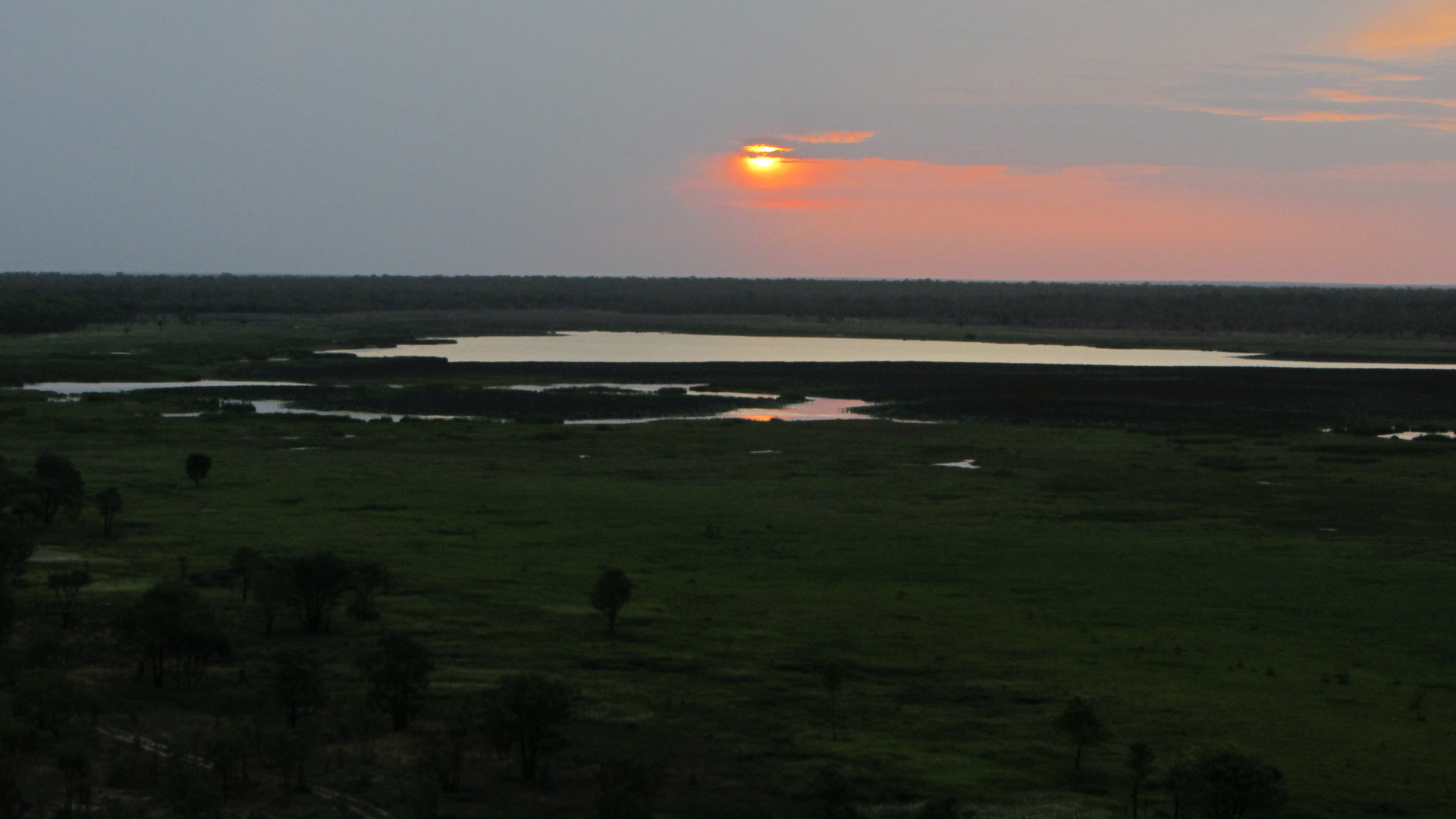 Sonnenuntergang am Ubirr Rock