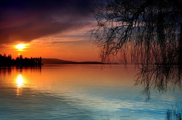 Sonnenuntergang am Untersee