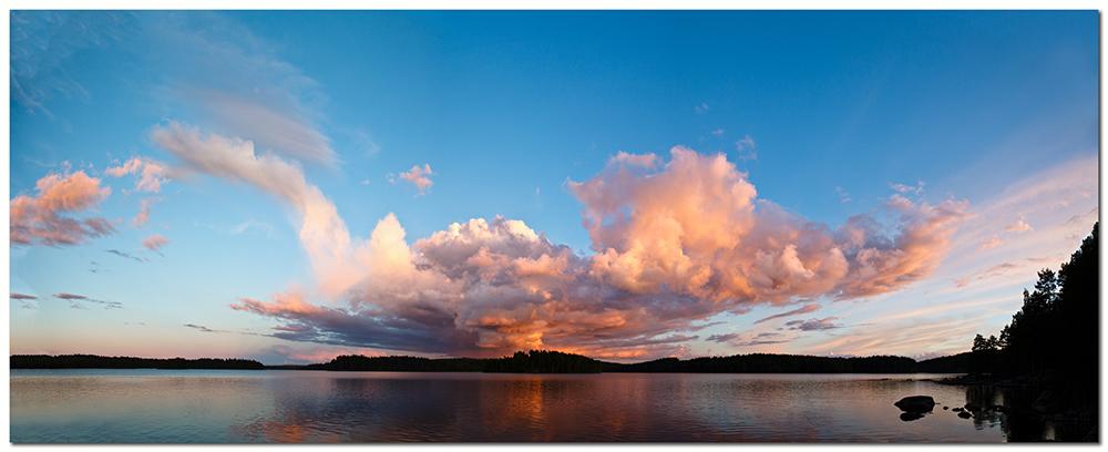 Sonnenuntergang am Västra Silen
