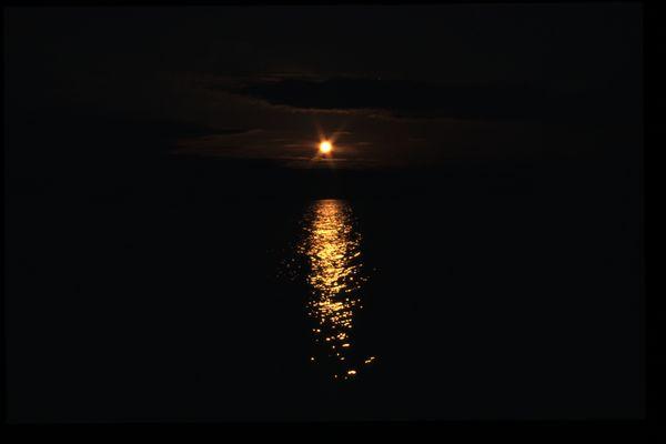 Sonnenuntergang am Vättern bei Gränna