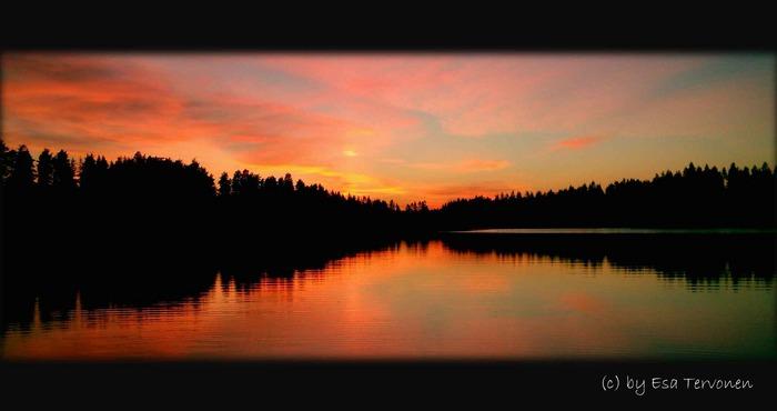 Sonnenuntergang am Valkealampi-See