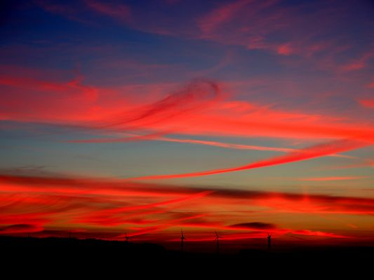 Sonnenuntergang am Vollmond, bei...............