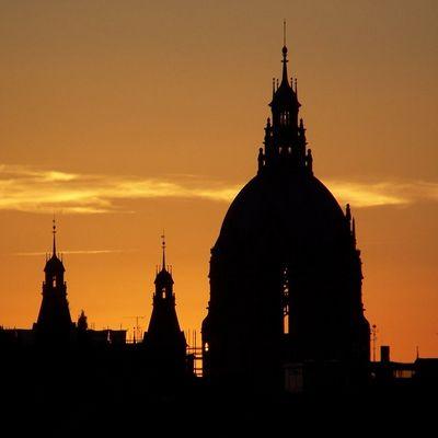 Sonnenuntergang am Wahlabend