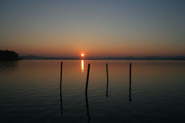 Sonnenuntergang am Wallersee