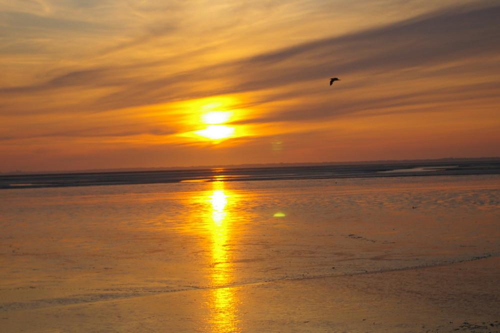 Sonnenuntergang am Watt