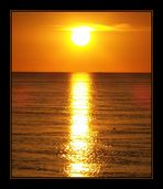 * * * Sonnenuntergang am Wattenmeer * * *