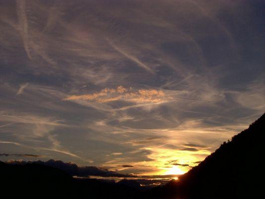 Sonnenuntergang am Weißensee