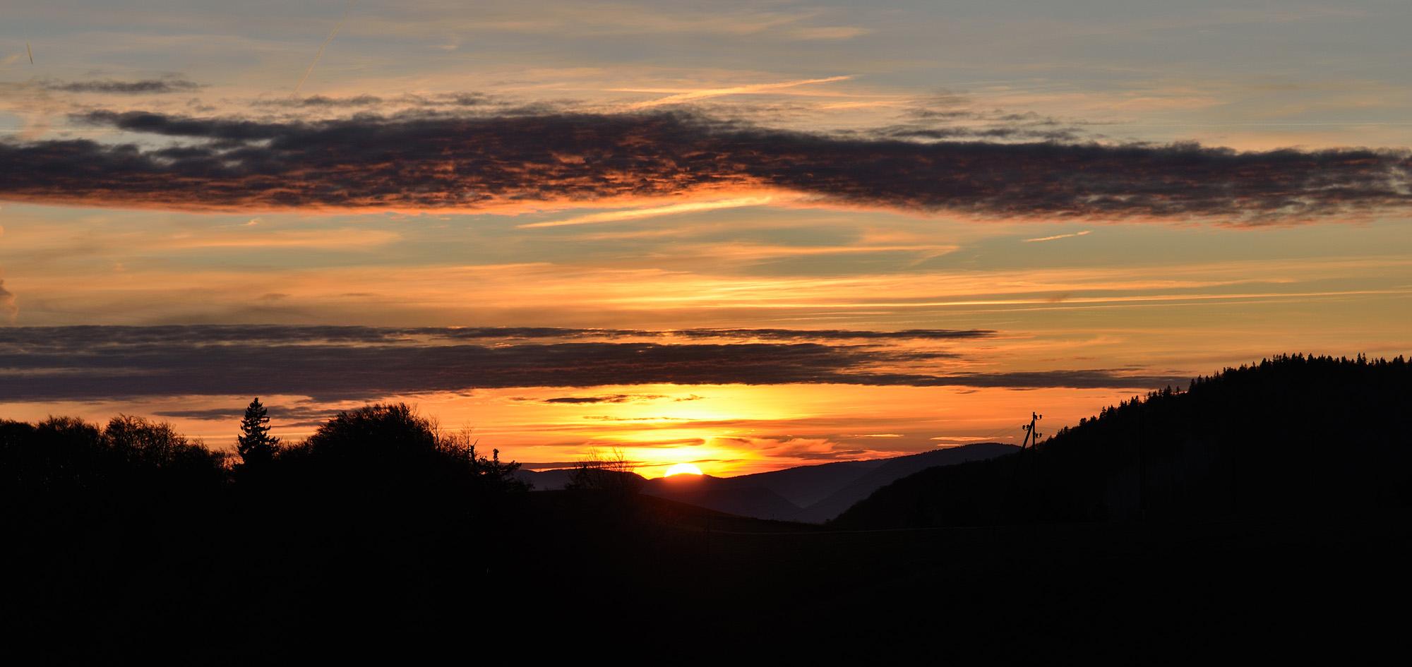 Sonnenuntergang am Weissenstein # 2