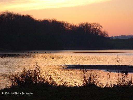 Sonnenuntergang am Wendebach Stausee