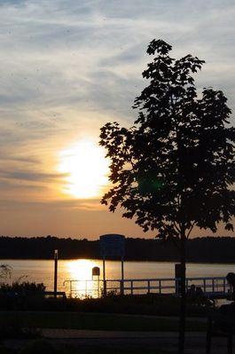 Sonnenuntergang am Werbelinsee