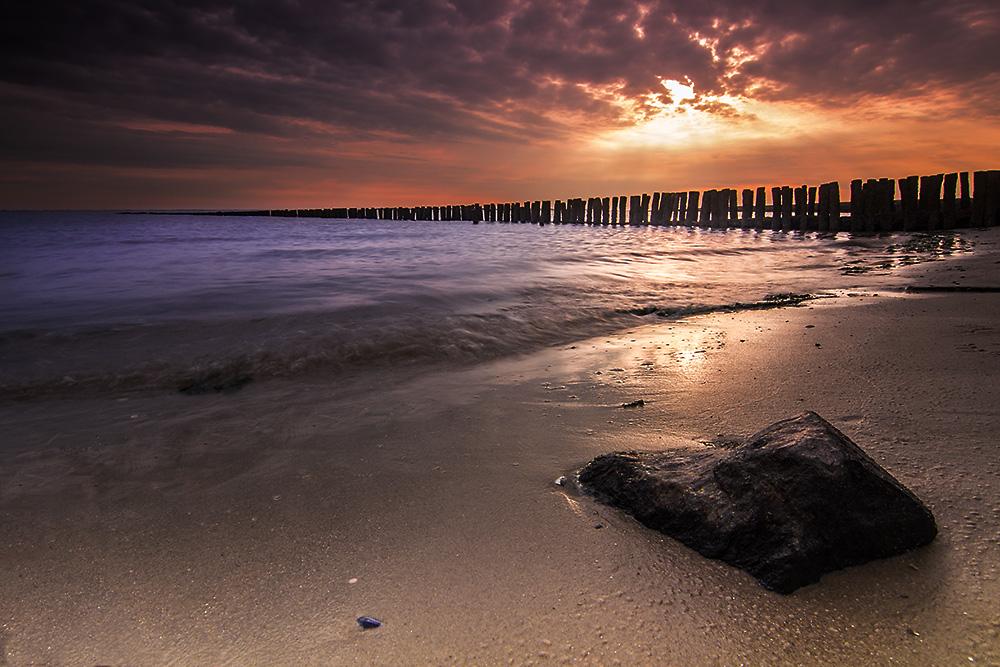 Sonnenuntergang am Westend von Spiekeroog II