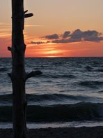 Sonnenuntergang am Weststrand