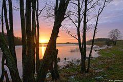 Sonnenuntergang am Winderatter See