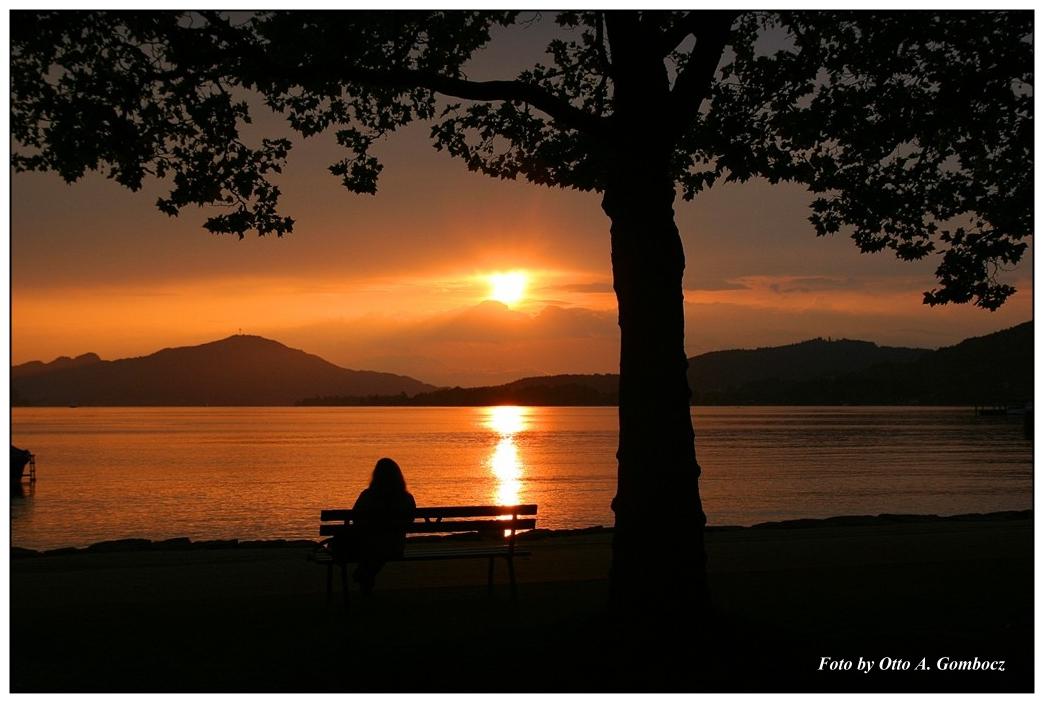 Sonnenuntergang am Wörther See