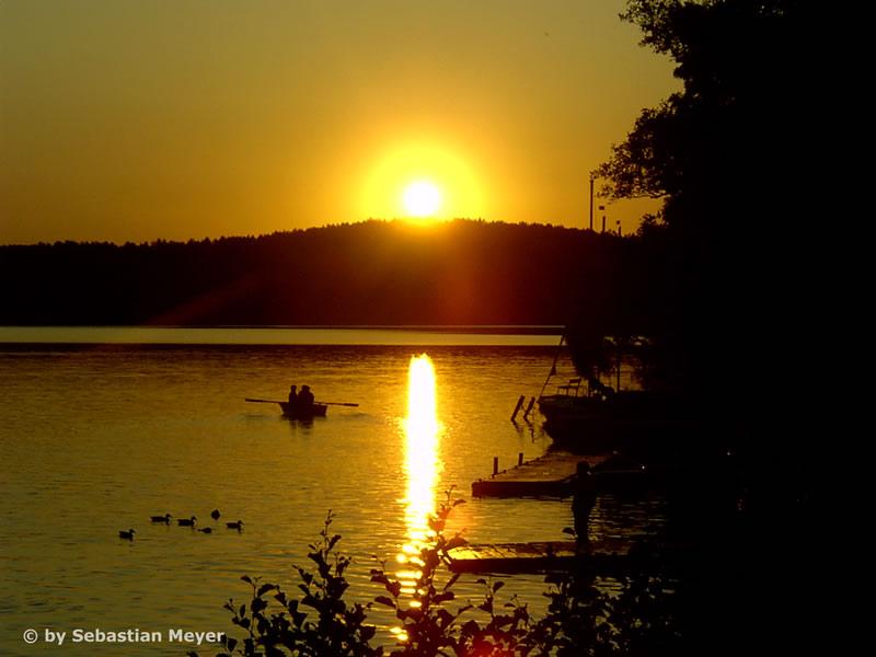 Sonnenuntergang am Wurlsee