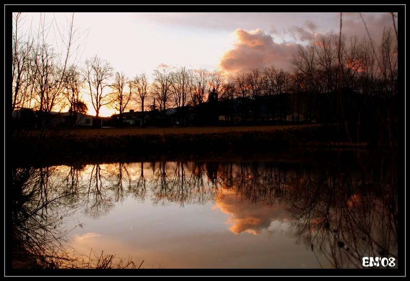 Sonnenuntergang am Ziegelteich
