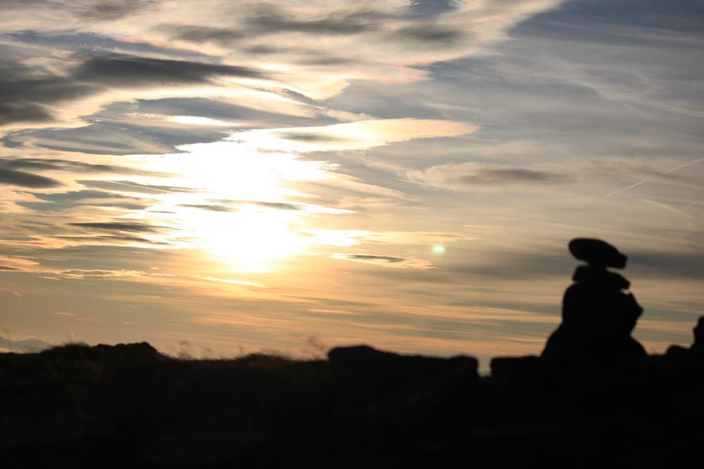 Sonnenuntergang am Zirbitzkogel