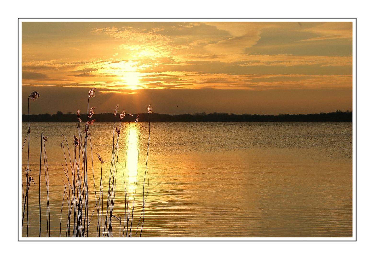 Sonnenuntergang am Zwischenahner Meer