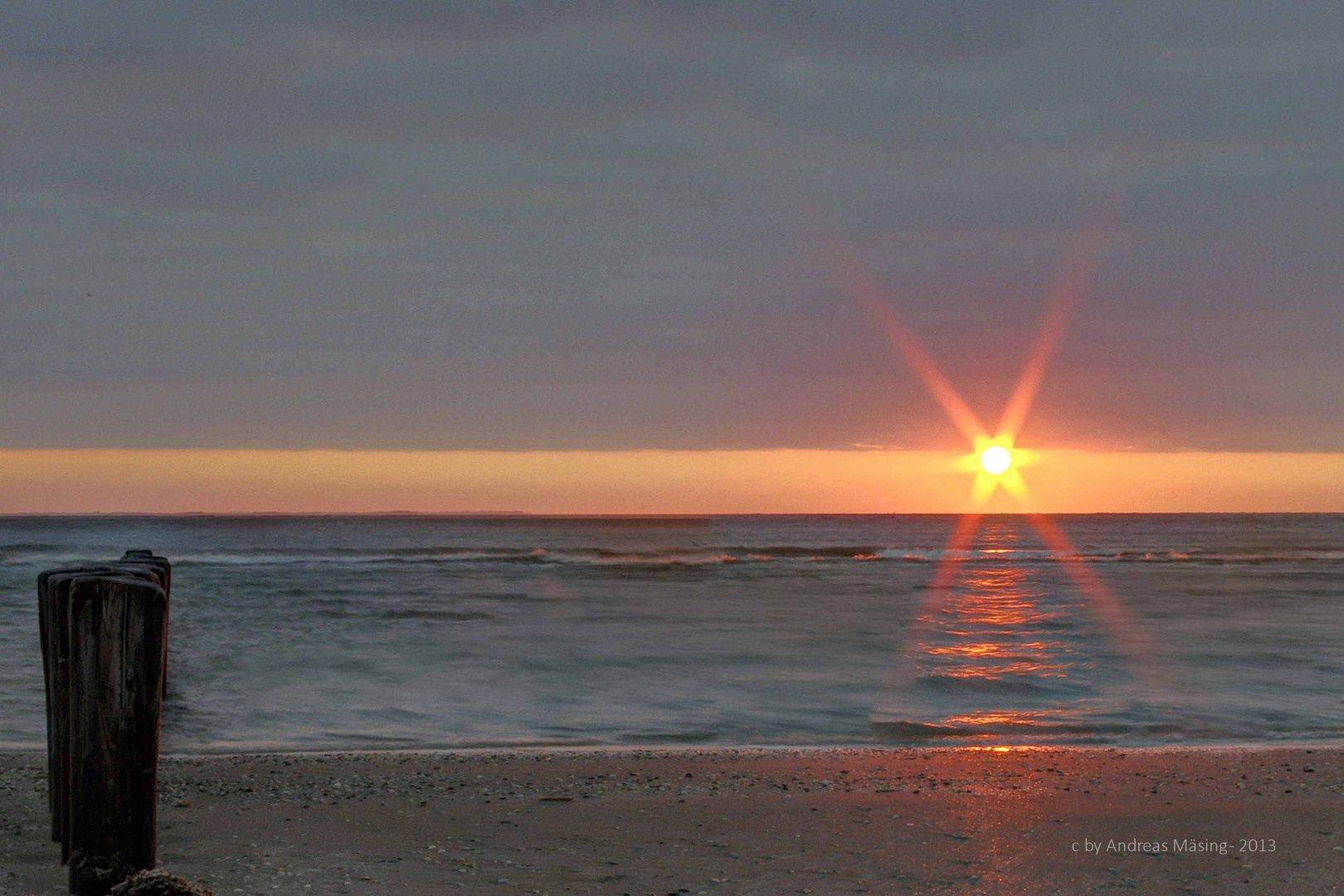 Sonnenuntergang Ameland 2013