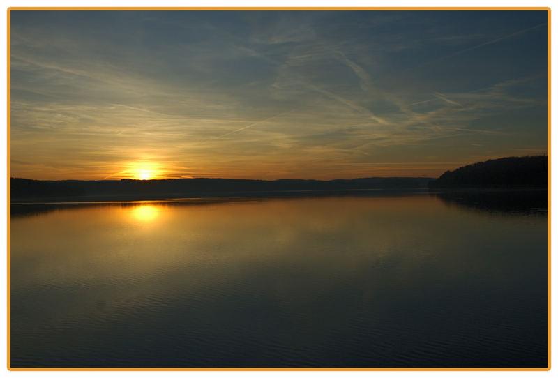 Sonnenuntergang an dem Möhnesee