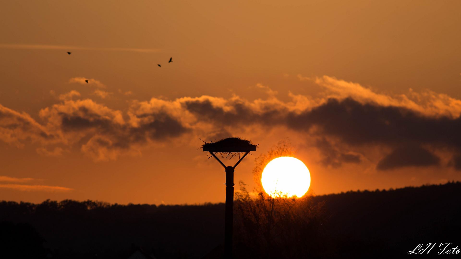 Sonnenuntergang an der ..1..