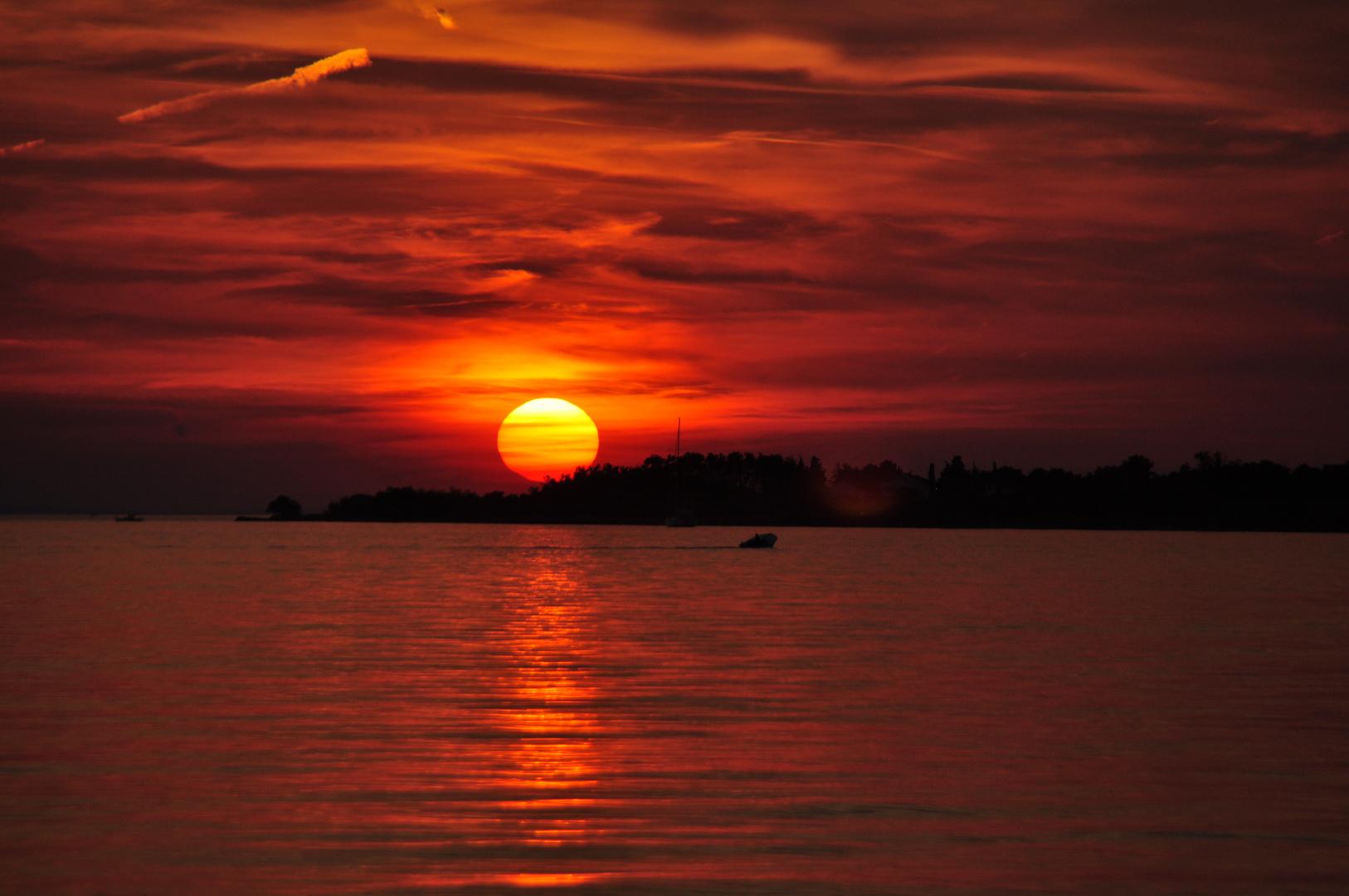 Sonnenuntergang an der Adria bei Zadar