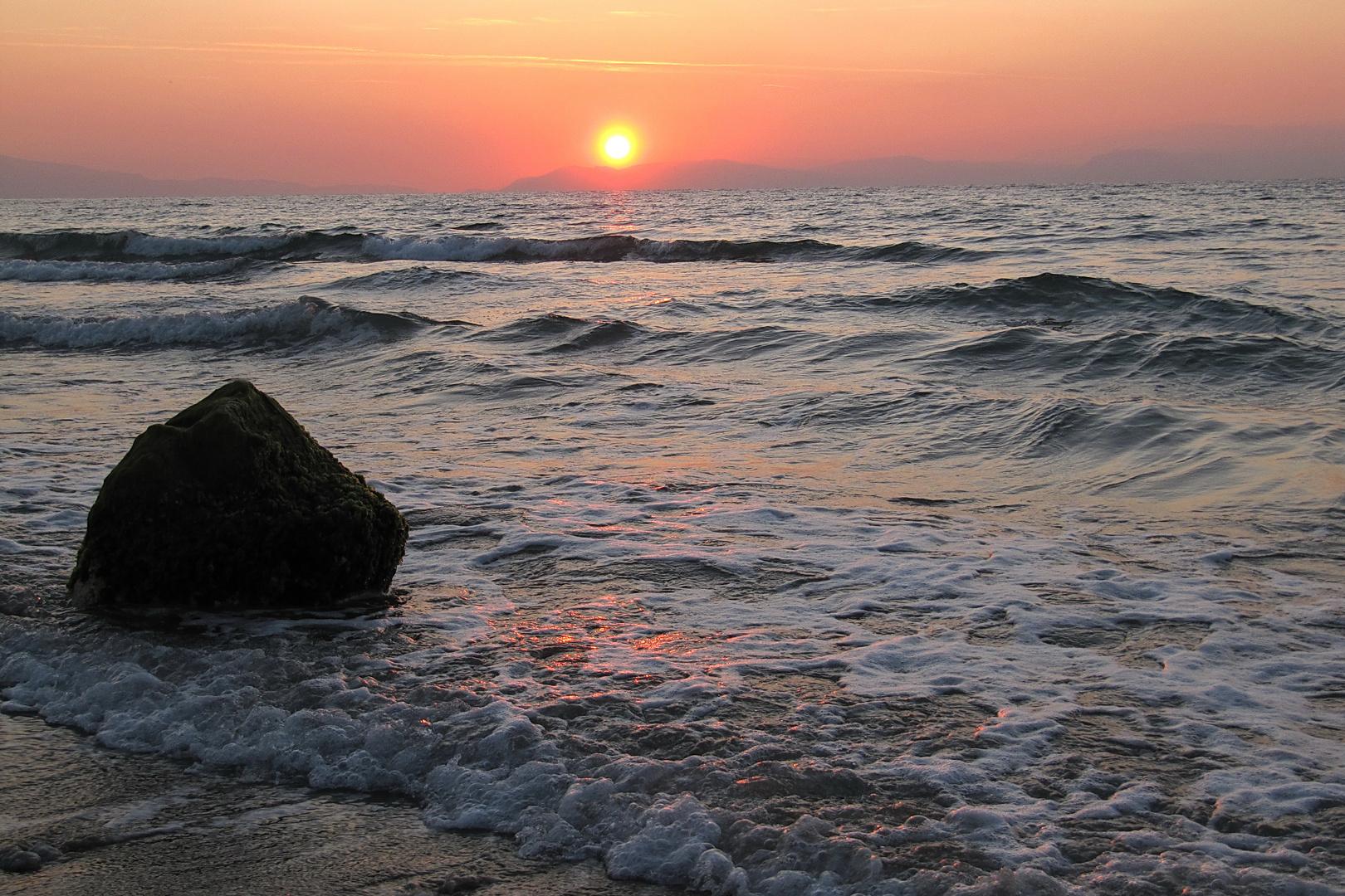 Sonnenuntergang an der Ägäis