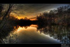 Sonnenuntergang an der Amper Teil 1