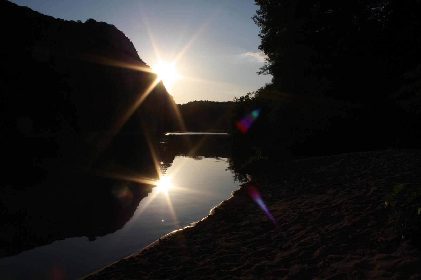 Sonnenuntergang an der Ardeche