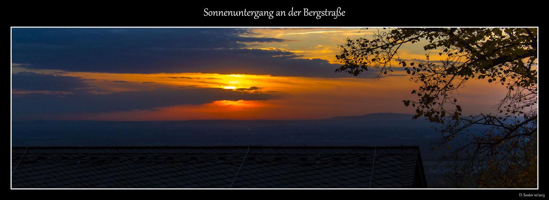 Sonnenuntergang an der Bergstraße