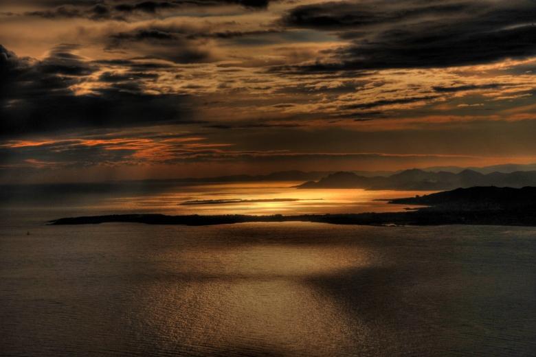 Sonnenuntergang an der Cote D'azur