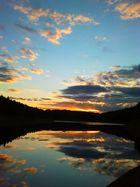 Sonnenuntergang an der Dhünntalsperre