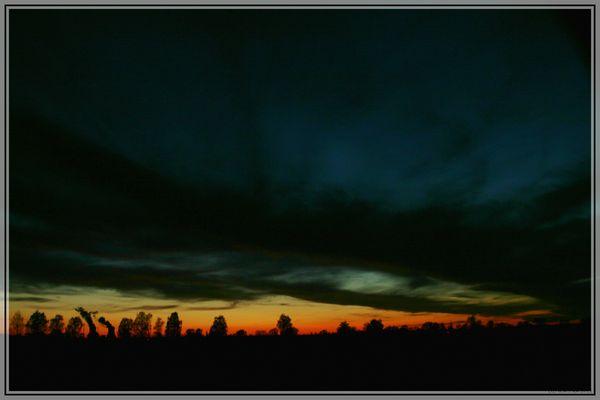 Sonnenuntergang an der Donau bei Ulm