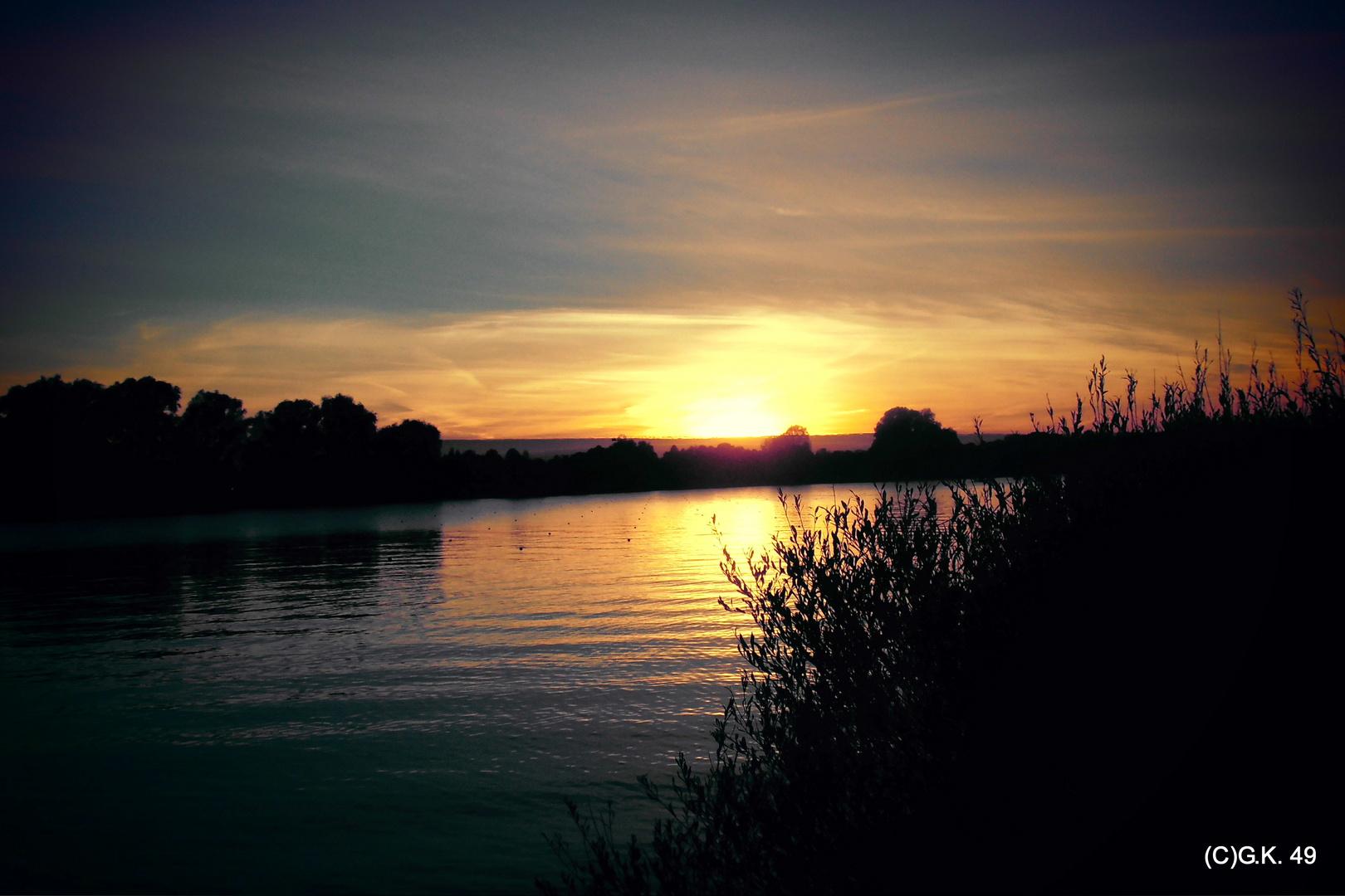 Sonnenuntergang an der Doven Elbe !