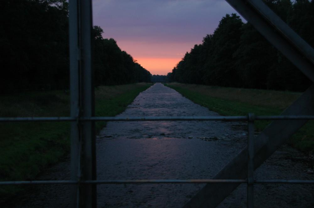 Sonnenuntergang an der Dreisam