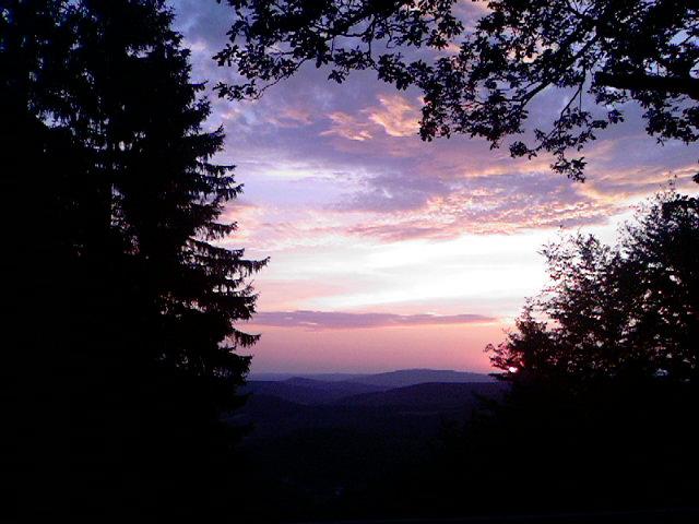 Sonnenuntergang an der Eisenstraße