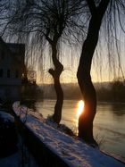 Sonnenuntergang an der Enz