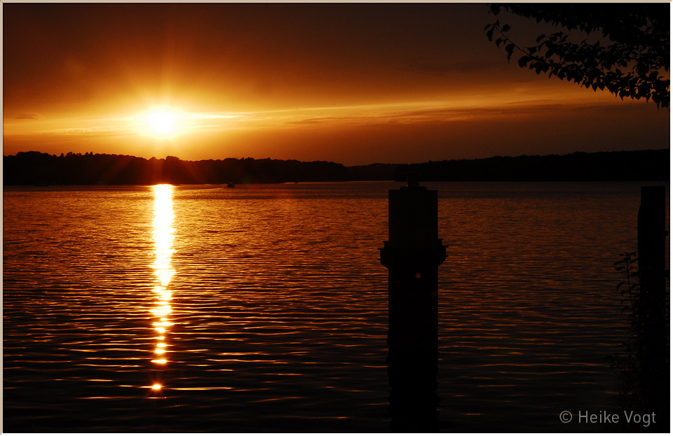 Sonnenuntergang an der Glienicker Brücke I