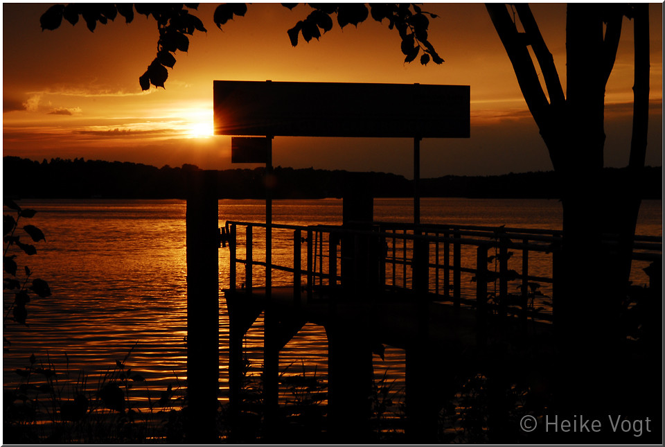 Sonnenuntergang an der Glienicker Brücke III