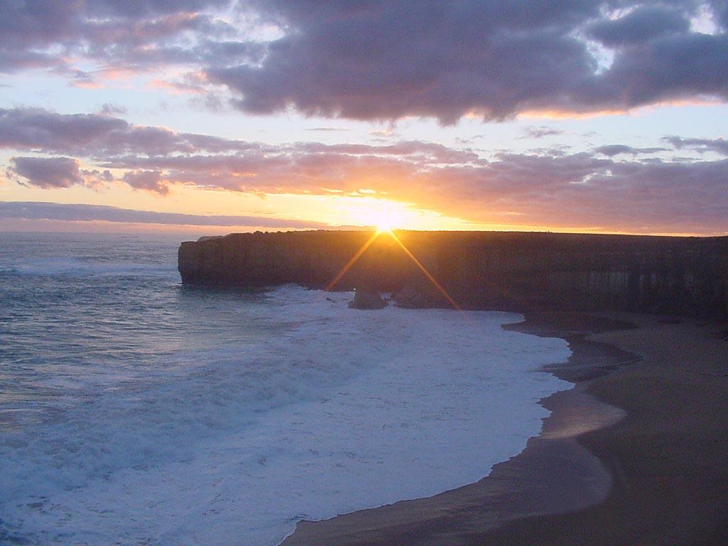 Sonnenuntergang an der Great Ocean Road,Australien