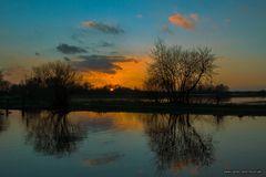 ~ Sonnenuntergang an der Hamme ~