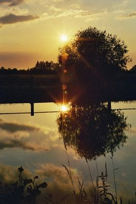Sonnenuntergang an der Hamme