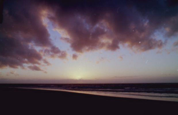 Sonnenuntergang an der holländischen Nordseeküste