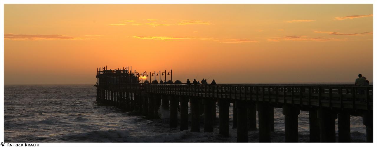 Sonnenuntergang an der Jetty