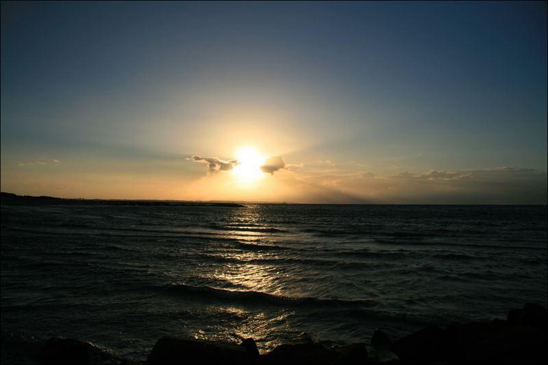 Sonnenuntergang an der Kieler Förder