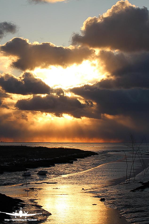 Sonnenuntergang an der Küste