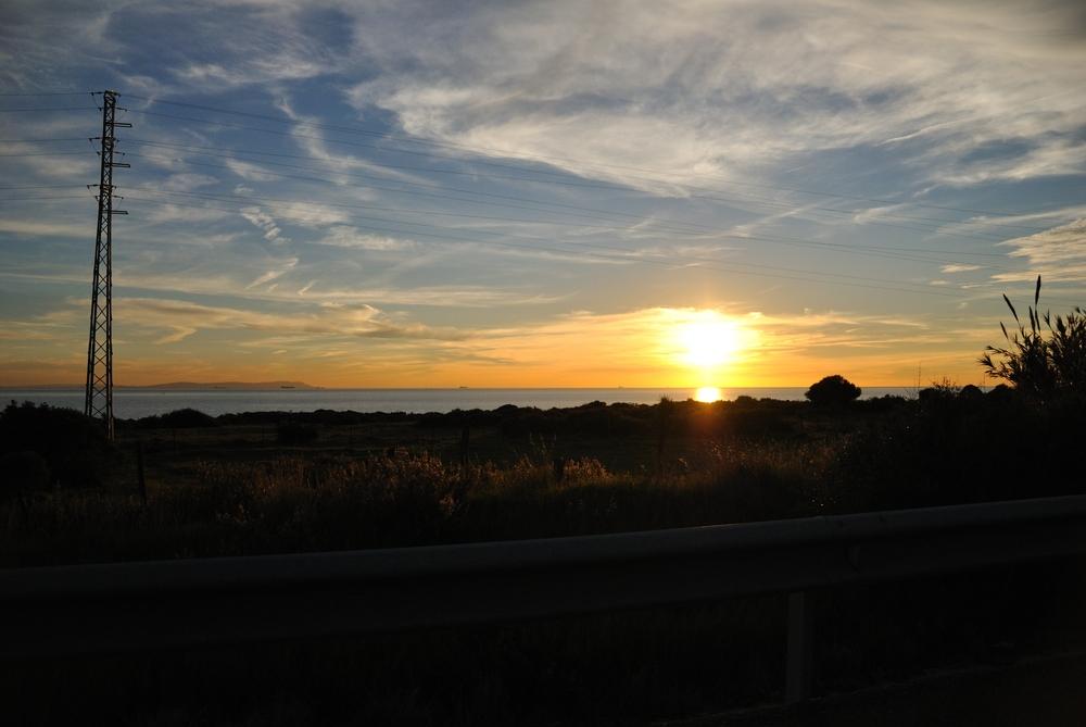 Sonnenuntergang an der Küste Andalusiens