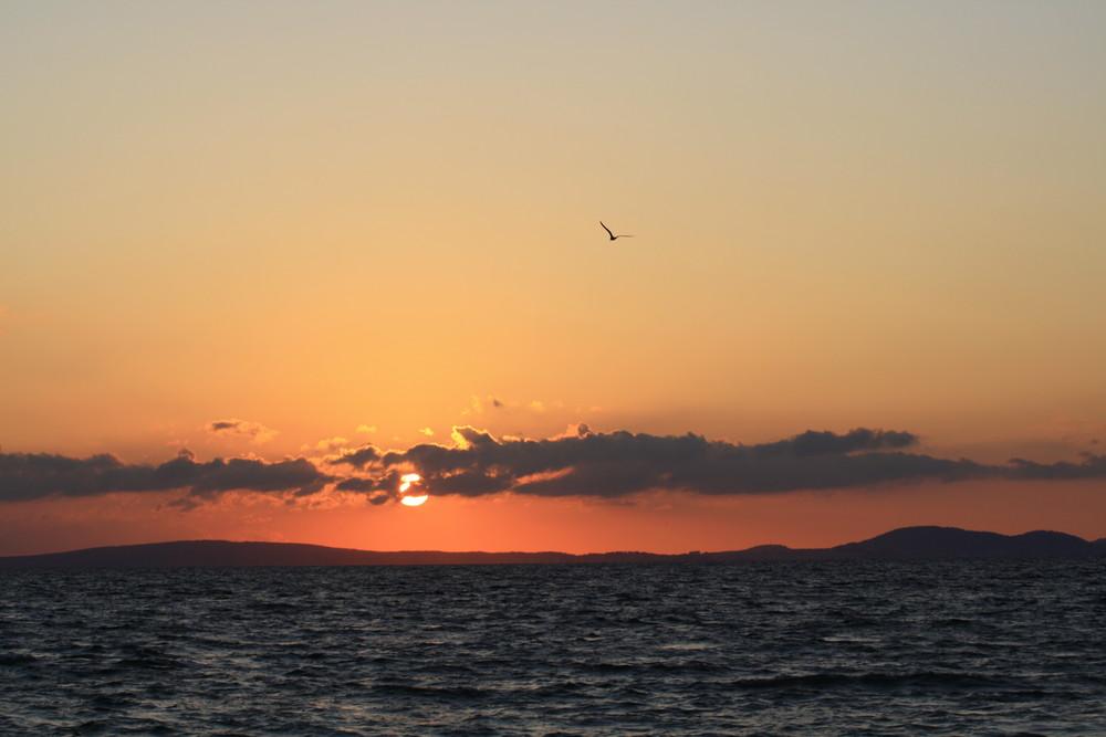 Sonnenuntergang an der Küste von Palma