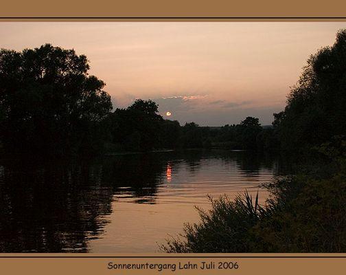 Sonnenuntergang an der Lahn
