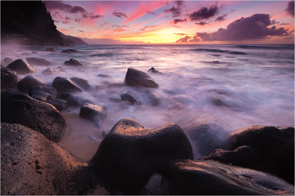 Sonnenuntergang an der Na Pali Küste
